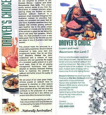 Drover Choice brochure